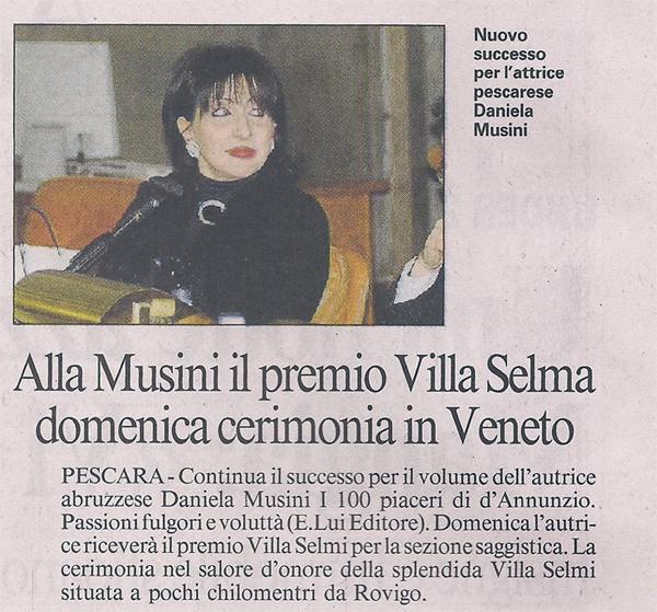 Il Messaggero - 12 Ottobre 2012