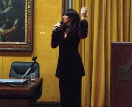 """Presentazione volume """"Mia Divina Eleonora"""" (Ianieriedizioni - Pescara), introdotta da Liliana Biondi con commento critico di Flavia Stara, e recital/concerto di Daniela Musini."""