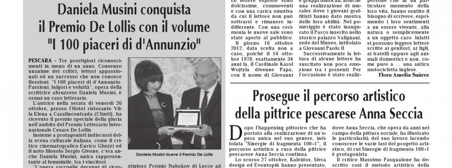 Articolo Daniela Musini - Abruzzesi nel Mondo