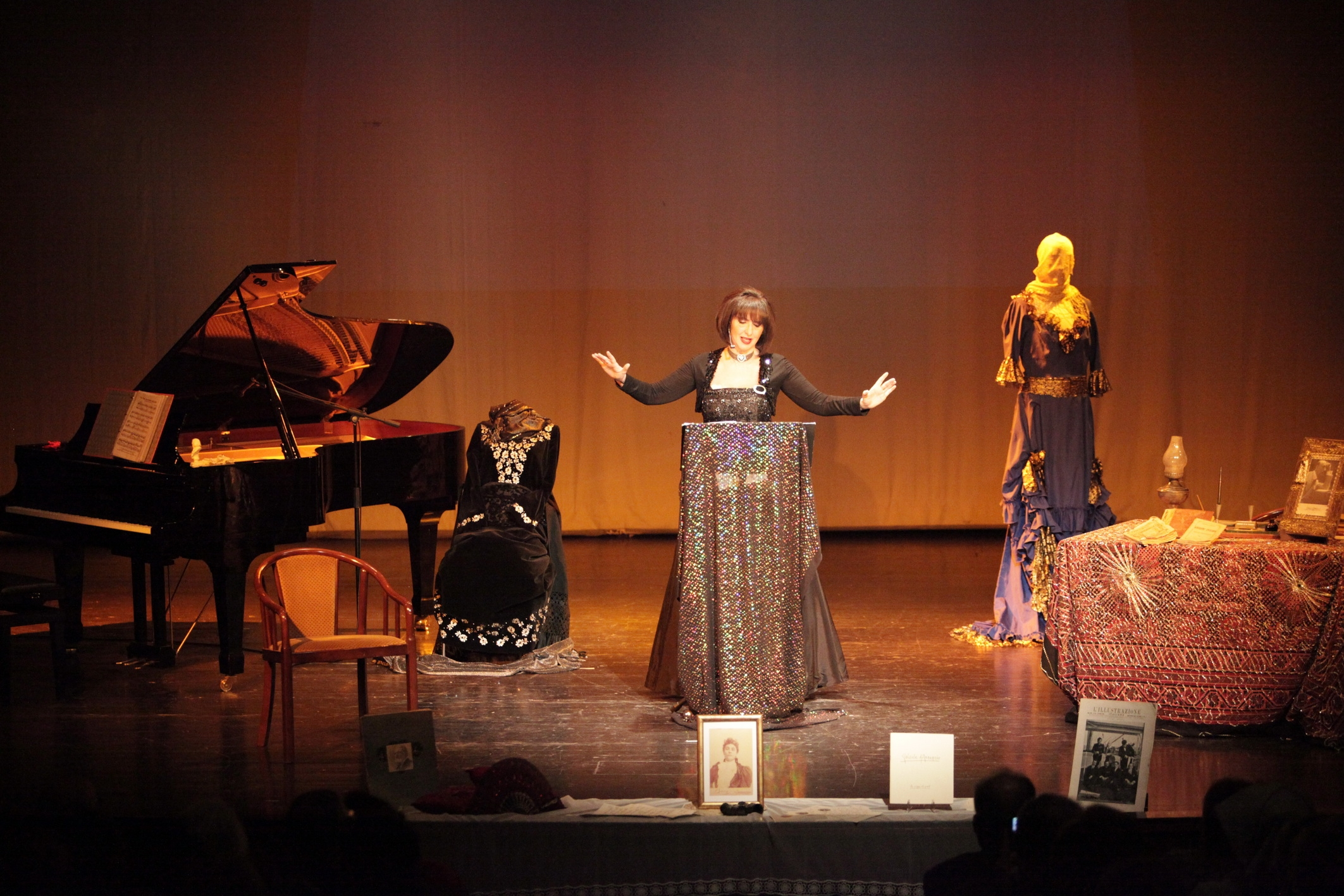 """Spettacolo  L'Abruzzo nel cuore: omaggio a Gabriele d'Annunzio e alla sua terra natìa""""- Gorizia teatro Kulturni Dom 16 marzo 2012"""