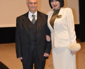 Daniela Musini con il Prof. Antonio D'Addario Presidente del Premio Zingarelli