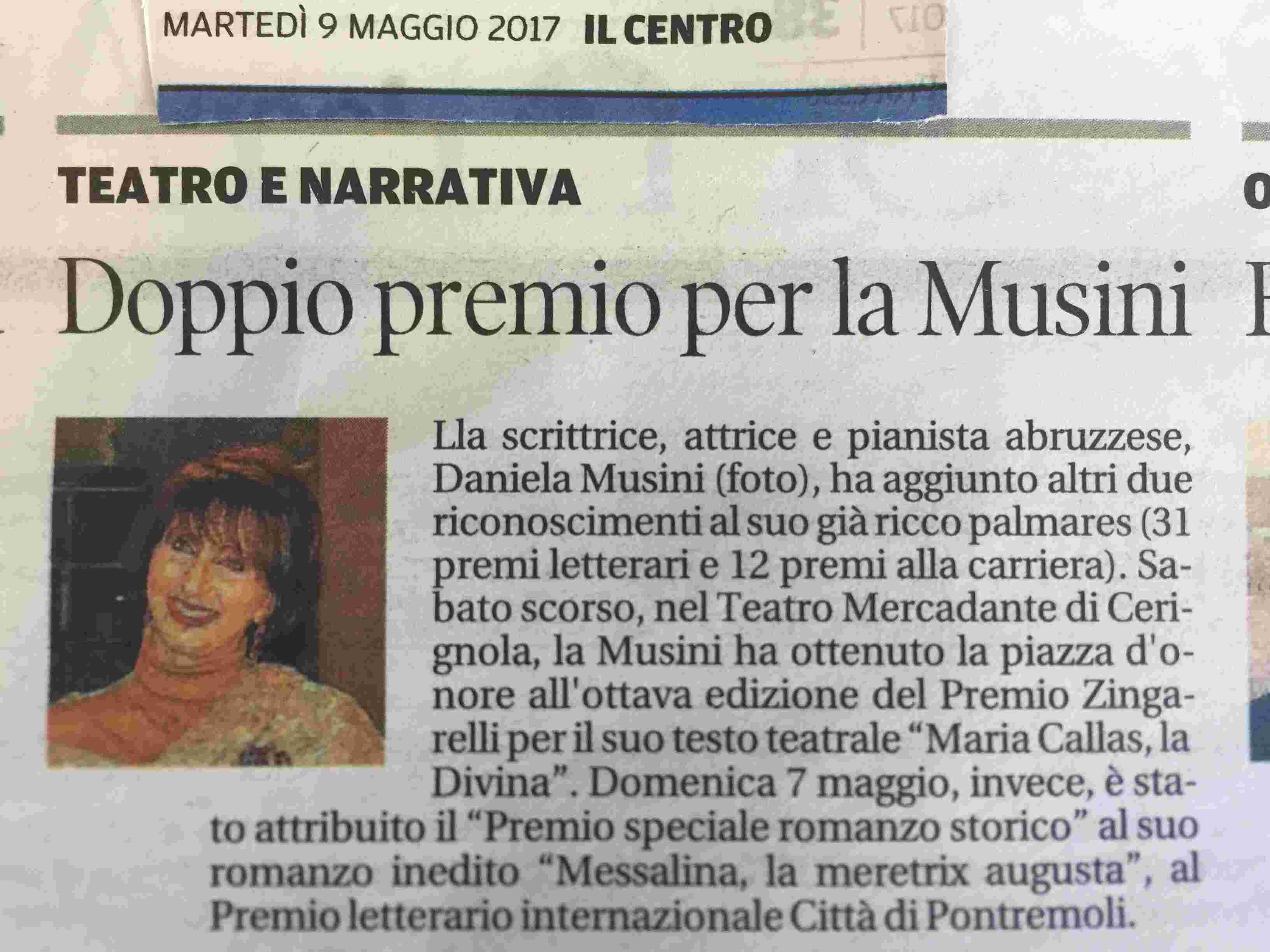 Articolo quotidiano Il Centro _ 9 maggio