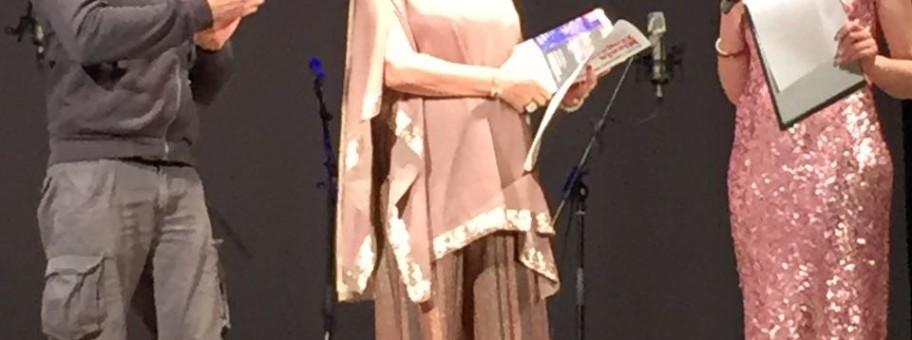 Daniela Musini durante il Premio Zingarelli