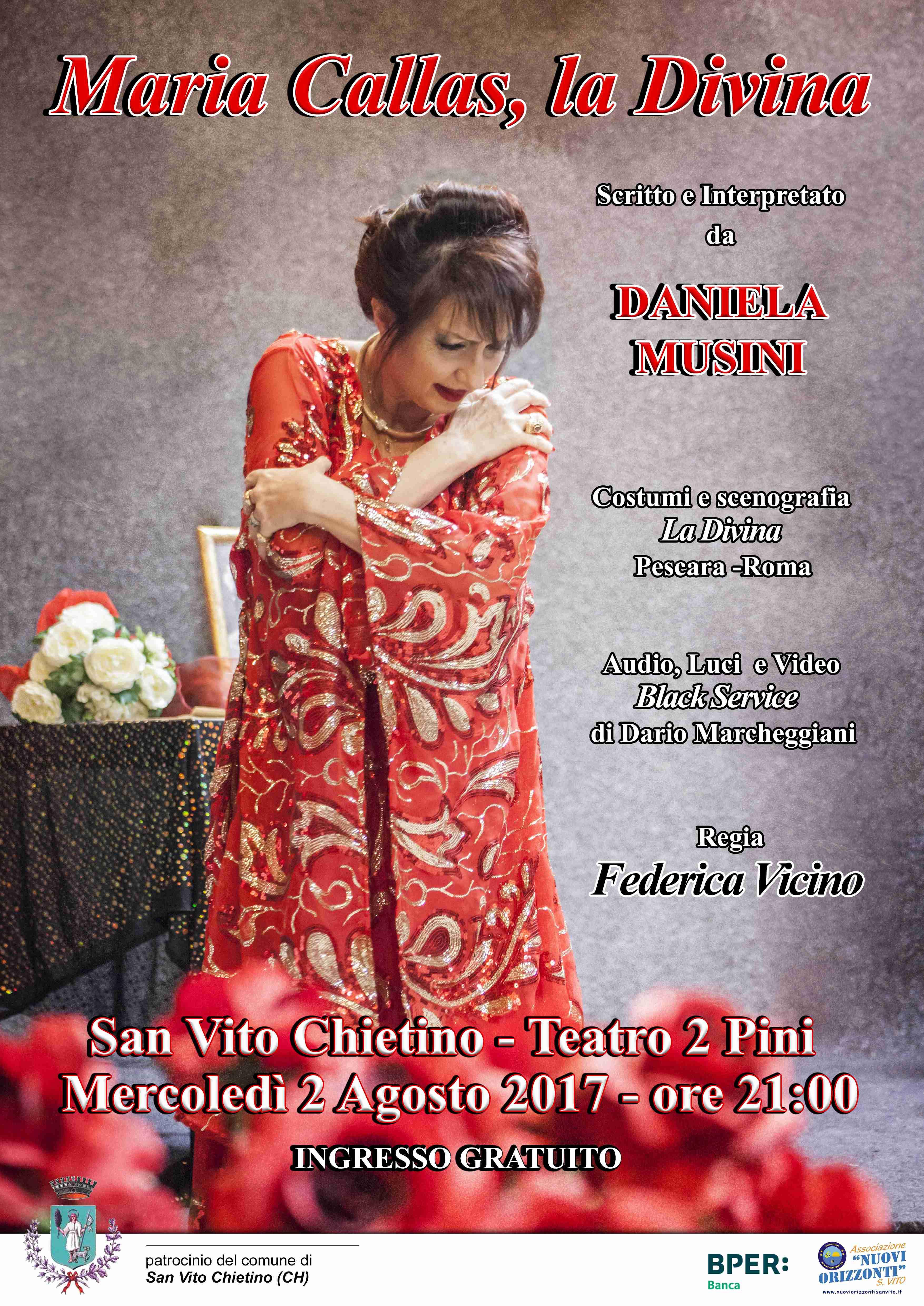 Maria Callas La Divina a San Vito Chietino