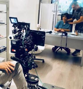 Daniela Musini sul set di _ Nati 2 volte_