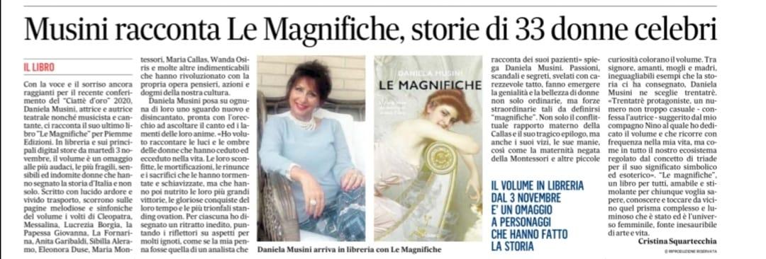 Quotidiano Il Messaggero _ Domenica 1 novembre