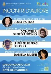 Locandina Incontri d'Autore Città Sant'Angelo